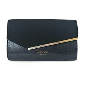 Jimmy Choo Parfums Black and Gold Clutch